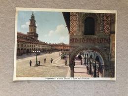 VIGEVANO  PIAZZA DUCALE TORRE DEL BRAMANTE  1949 - Vigevano
