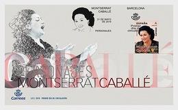 H01 Spain 2019 Characters, Montserrat Caballé FDC - 1931-Heute: 2. Rep. - ... Juan Carlos I