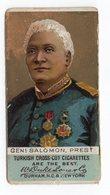 1880s USA, TURKISH CROSS CUT CIGARETTES, LYSIUS SALOMON, PRESIDENT OF HAITI, FROM 1879 - 1888 - Advertising Items