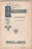 Sail Les Bains ( Loire) Guide De La Station-thermale. (32p.) Les Vertus De La Source Du Hamel- Nombreuses Illustrations. - Dépliants Touristiques