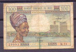 Mali  Ex AOF 100 Fr - Bankbiljetten