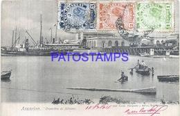 113263 PARAGUAY ASUNCION DESPOSITOS DE ADUANA & SHIP CIRCULATED TO FRANCE POSTAL POSTCARD - Paraguay