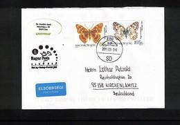 Hungary / Ungarn 2011 Butterflies Interesting Cover - Butterflies