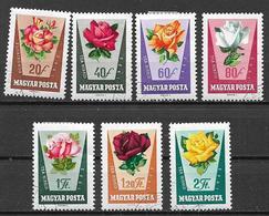 UNGHERIA 1962 ROSE DIVERSE YVERT. 1516-1522 USATA VF - Ungheria