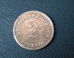 *** (J002) 2 Pfennig 1874 H *~VZ* DEUTSCHLAND Deutsches Reich - [ 2] 1871-1918 : German Empire