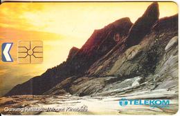 MALAYSIA(chip) - Mount Kinabalu, Telecom Malaysia Telecard RM20, Chip GEM1.1, Used - Montagnes