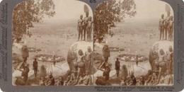 STEREO FOTO - NIAUZA EAST AFRICA- Dutch East Indies, Nackte Eingeborene, Reprofoto, Größe 17,8 X 8,8 Cm - Ethnics