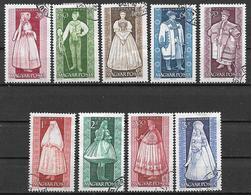 UNGHERIA 1963 COSTUMI POPOLARI YVERT. 1579-1587 USATA VF - Ungheria