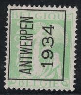 2c N° Preo 275A Antwerpen 1934 - Typo Precancels 1932-36 (Ceres And Mercurius)