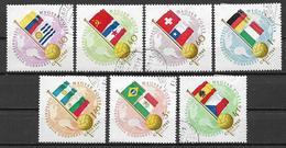 UNGHERIA 1962 COPPA DEL MONDO DI CALCIO  IN CILE YVERT. 1505-1511 VF - Ungheria