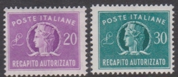 Italy AD 12-13 1955 Authorized Delivery Stamps, Mint Hinged - 6. 1946-.. Republic