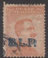 Italy BLP 11  1922  King Victor Emmanuel, Overprinted BLP, 20c Orange, Used - 1900-44 Vittorio Emanuele III