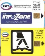 Trinidad & Tobago - T&T-C-03/4, C&W (TSTT), Infozone - Yellow Pages, 20/100 TT$, 1997, Mint Unused - Trinidad & Tobago