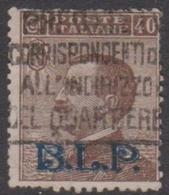 Italy BLP 13 1923 King Victor Emmanuel, Overprinted BLP, 40c Brown, Used - 1900-44 Vittorio Emanuele III