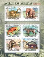 Mozambique 2012 Fauna Extinct Animals Of America, Frog ,elephant , - Mozambique