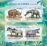 Mozambique 2012 Fauna Animals Of Europe, Rhino, Horses ,hippo - Mozambique