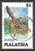 Malaysia  1985  Sc#298 $1 Flying Squirrel Used   2016  Scott Value $6 - Malaysia (1964-...)