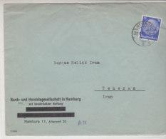 Zensurbrief Aus HAMBURG 29.4.41 Nach Teheran / Iran - Briefe U. Dokumente