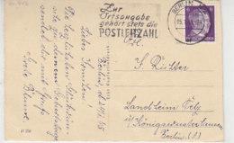 Stempelbeleg - Zur Ortsangabe Gehört Stets Die POSTLEITZAHL  ... Aus BERLIN 25.1.45 ! - Briefe U. Dokumente