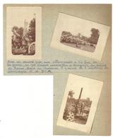 08 HARGNIES Au Dessus De Revin 3 Photos Originales 1918 Canons Pris Aux Allemands - France