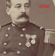 CDV Officier Médaillé Vers 1880-grenades Sur Col-photo  Mulnier à Paris - Guerre, Militaire