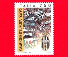 ITALIA - Usato - 1996 - Juventus Campione D'Europa 1995-1996  - 750 L. - Tifosi Della Juve - 1991-00: Usados