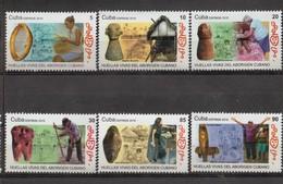 Cuba 2019 Life Footprints Of Indians 6v + S/S MNH - Arqueología