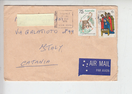 AUSTRALIA -1976 -  - Yvert 530-580 - Lettera Per Italy - Storia Postale