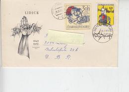 """CECOSLOVACCHIA  1972 - Annullo Speciale Illustrato -  """"Eccidio Di Lidice"""" - Seconda Guerra Mondiale"""