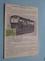 Locomotive A Vapeur De La SNCV Type 19 ( Technische Fiche Nr. 2 ) > 1966 ( Zie / Voir Photo ) ! - Trains