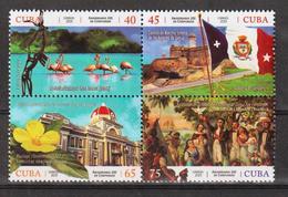 Cuba 2019 200th Anniversary Of Cienfuegos City(Birds, Flowers, Architecture, Flags) 4v + S/S MNH - Flamencos