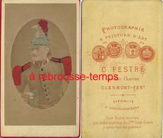 CDV Colorisé Vers 1875- 19e R Dragon? Photo Pestre à Clermont Ferrand - Guerre, Militaire