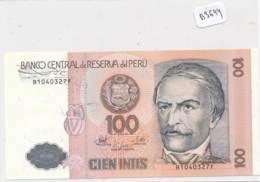 Numismatique -B3644 - Pérou -100 Intis ( Catégorie,  Nature état ... Scans)-Envoi Gratuit - Pérou