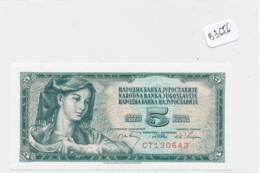 Numismatique -B3656-Yougoslavie -5 Dinara ( Catégorie,  Nature état ... Scans)-Envoi Gratuit - Bankbiljetten
