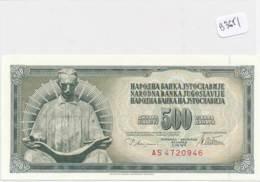 Numismatique -B3651-Yougoslavie -500 Dinara ( Catégorie,  Nature état ... Scans)-Envoi Gratuit - Bankbiljetten