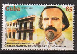 Cuba 2019 200th Anniversary Of Carlos Manuel De Cespedes`s Birthdate 1v MNH - Cuba