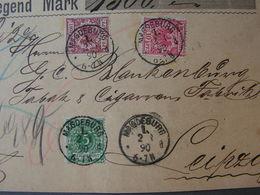 DR Cv. Front Part Nur Vorderseite 1890 - Lettres & Documents