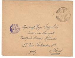 18071 - Avec Censure  F.F.L. Pour Paris - Marcophilie (Lettres)