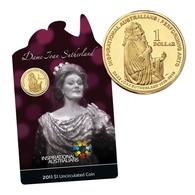 AUSTRALIA • 2011 • $1 • Inspirational Australians: Dame Joan Sutherland • Uncirculated Coin On Card - Australia