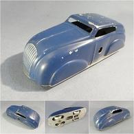 ~ JOUET VOITURE BLEUE EN FER BLANC - Automobile - Toy Memorabilia