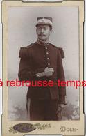 CDV Militaire Grenades Sur Col-visière Blanche-photo Martin à Dôle - Krieg, Militär