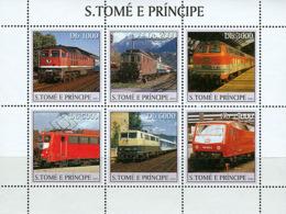 Sao Tome  2003 Trains - Sao Tome And Principe