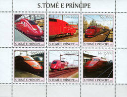 Sao Tome  2003 Thalys Trains - Sao Tome And Principe