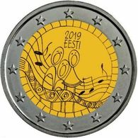 ESTONIA 2019 2 EURO  FESTIVAL CANZONE ESTONE EESTI ESTONIE ESTLAND ЭСТОНИЯ  UNC - Estonie