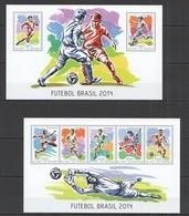 ST1166 2014 GUINE GUINEA-BISSAU SPORT FOOTBALL WOLRD CUP BRAZIL 2014 KB+BL MNH - 2014 – Brasile