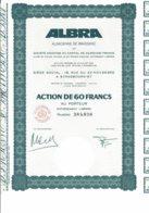 67-ALBRA. ALSACIENNE DE BRASSERIE. STRASBOURG - Shareholdings