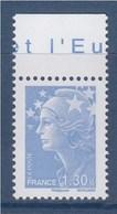 = Marianne De Beaujard, N°4344 Neuf Gommé 1.30€ Bleu Ciel, Avec Haut De Feuille - 2008-13 Maríanne De Beaujard