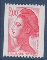 = Type Liberté De Delacroix  2.00f  Rouge  Roulette Neuf N°2277 Gommé - Rollen
