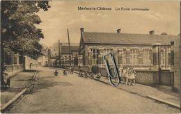 Merbes-Le-Chateau :  Les Ecoles Communales  ( Ecrit 1926 Avec Timbre ) - Merbes-le-Château