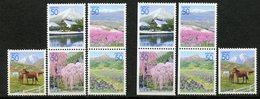 Japan, Yvert 3071/3075+3071a/3075a, MNH - 1989-... Empereur Akihito (Ere Heisei)